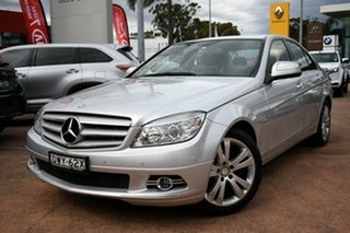 2008 Mercedes-Benz C200 W204 Kompressor Classic Silver 5 Speed Automatic Tipshift Sedan.