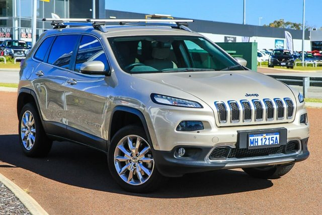 Used Jeep Cherokee KL MY15 Limited Rockingham, 2015 Jeep Cherokee KL MY15 Limited Gold 9 Speed Sports Automatic Wagon