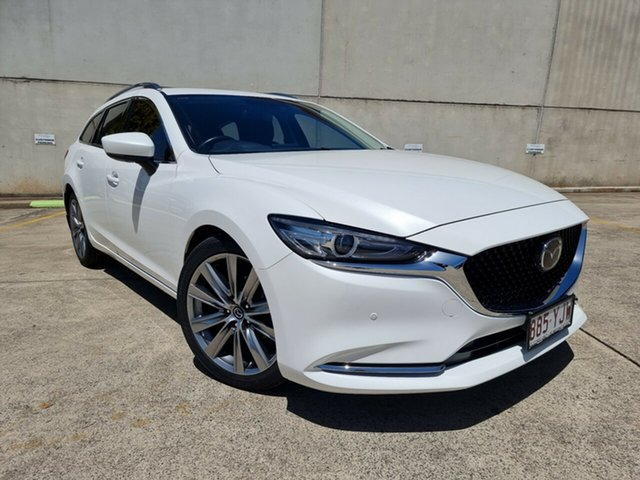 Used Mazda 6 GL1032 GT SKYACTIV-Drive Toowoomba, 2018 Mazda 6 GL1032 GT SKYACTIV-Drive White 6 Speed Sports Automatic Wagon