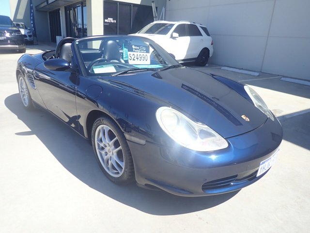 Used Porsche Boxster 986 Wangara, 2004 Porsche Boxster 986 Blue Mauritius 5 Speed Automatic Tiptronic Roadster