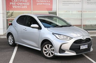 2020 Toyota Yaris NCP131R SX Silver Pearl 4 Speed Automatic Hatchback.