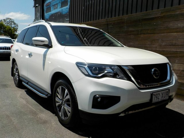 Used Nissan Pathfinder R52 Series II MY17 ST-L X-tronic 4WD Labrador, 2018 Nissan Pathfinder R52 Series II MY17 ST-L X-tronic 4WD White 1 Speed Constant Variable Wagon