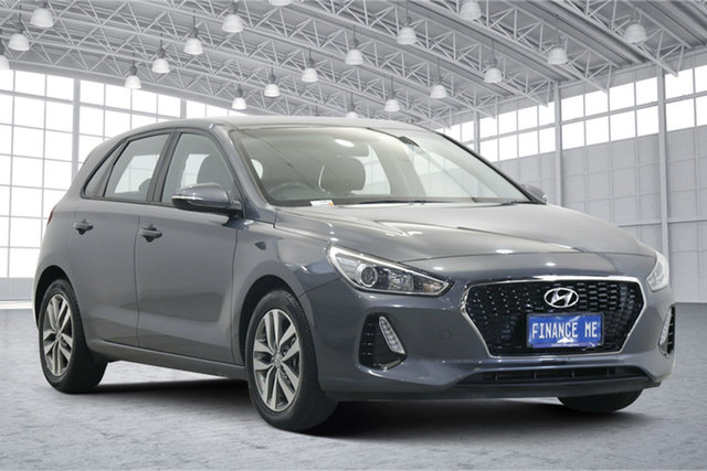 Used Hyundai i30 PD MY18 Active Victoria Park, 2018 Hyundai i30 PD MY18 Active Grey 6 Speed Sports Automatic Hatchback