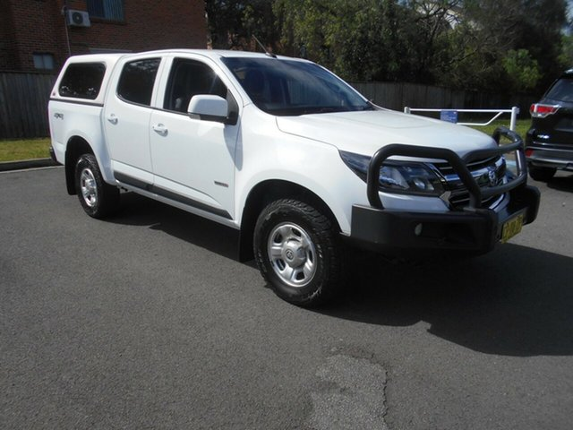 Used Holden Colorado RG MY18 LS (4x4) Bankstown, 2018 Holden Colorado RG MY18 LS (4x4) White 6 Speed Automatic Crew Cab Pickup
