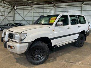 2002 Toyota Landcruiser FZJ105R GXL White 4 Speed Automatic Wagon.