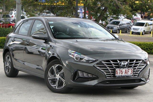 Demo Hyundai i30 PD.V4 MY21 Moorooka, 2020 Hyundai i30 PD.V4 MY21 Amazon Gray 6 Speed Sports Automatic Hatchback