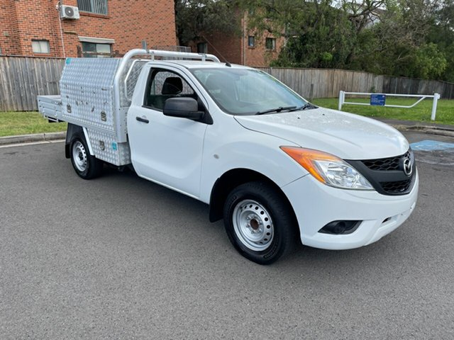 Used Mazda BT-50 MY13 XT (4x2) Bankstown, 2015 Mazda BT-50 MY13 XT (4x2) White 6 Speed Manual Cab Chassis