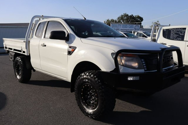 Used Ford Ranger PX XL Moorooka, 2011 Ford Ranger PX XL White 6 Speed Manual Cab Chassis