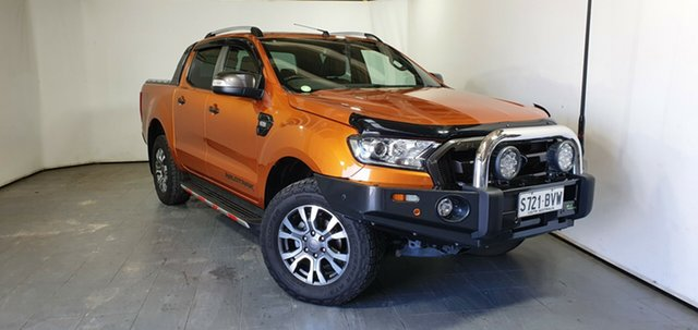 Used Ford Ranger PX MkII 2018.00MY Wildtrak Double Cab Elizabeth, 2018 Ford Ranger PX MkII 2018.00MY Wildtrak Double Cab Orange 6 Speed Sports Automatic Utility
