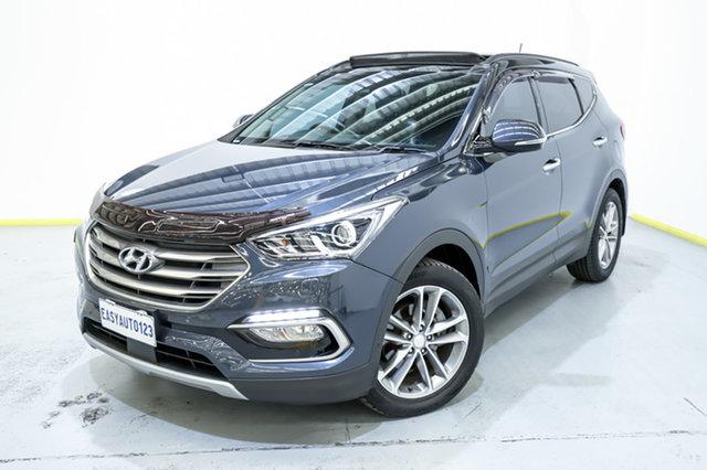 Used Hyundai Santa Fe DM2 MY15 Highlander Canning Vale, 2015 Hyundai Santa Fe DM2 MY15 Highlander Blue 6 Speed Sports Automatic Wagon