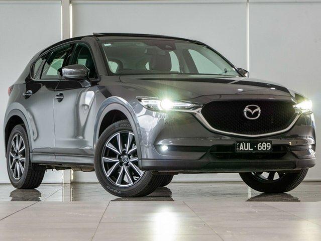 Used Mazda CX-5 KF4WLA GT SKYACTIV-Drive i-ACTIV AWD Deer Park, 2018 Mazda CX-5 KF4WLA GT SKYACTIV-Drive i-ACTIV AWD Grey 6 Speed Sports Automatic Wagon