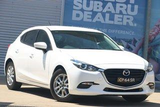 2018 Mazda 3 BN MY18 Maxx Sport (5Yr) White 6 Speed Automatic Hatchback.
