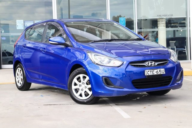 Used Hyundai Accent RB2 Active Kirrawee, 2014 Hyundai Accent RB2 Active Blue 4 Speed Sports Automatic Hatchback