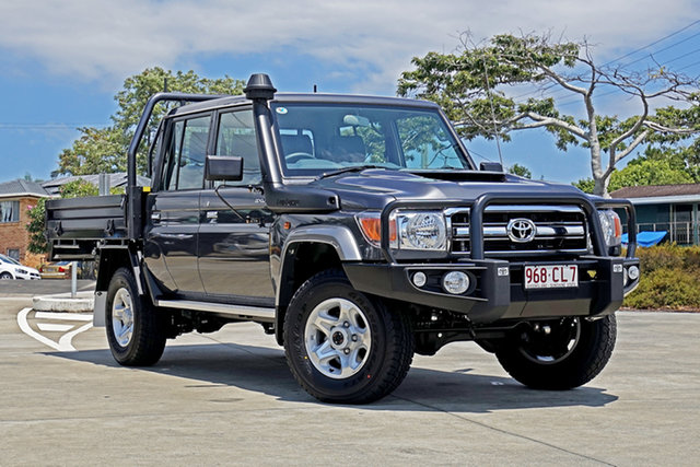 Used Toyota Landcruiser VDJ79R GXL Double Cab Capalaba, 2021 Toyota Landcruiser VDJ79R GXL Double Cab Grey 5 Speed Manual Cab Chassis