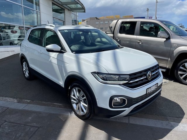 Demo Volkswagen T-Cross C1 MY21 85TSI DSG FWD Style Brookvale, 2021 Volkswagen T-Cross C1 MY21 85TSI DSG FWD Style Pure White 7 Speed Sports Automatic Dual Clutch