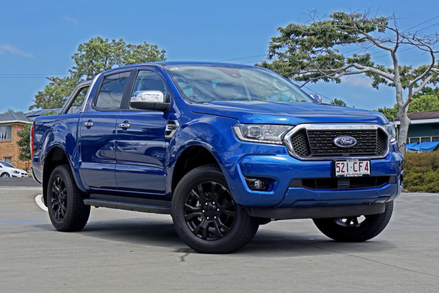 Used Ford Ranger PX MkIII 2021.25MY XLT Capalaba, 2021 Ford Ranger PX MkIII 2021.25MY XLT Blue 6 Speed Sports Automatic Double Cab Pick Up