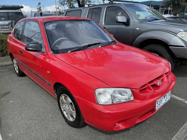 Used Hyundai Accent LC GL Traralgon, 2001 Hyundai Accent LC GL Red 5 Speed Manual Hatchback