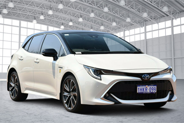 Used Toyota Corolla ZWE211R ZR E-CVT Hybrid Victoria Park, 2019 Toyota Corolla ZWE211R ZR E-CVT Hybrid White /black Roof 10 Speed Constant Variable Hatchback