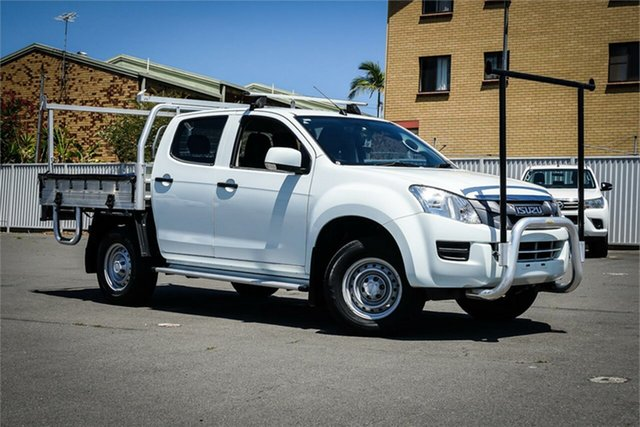 Used Isuzu D-MAX MY15.5 SX Crew Cab 4x2 High Ride Moorooka, 2016 Isuzu D-MAX MY15.5 SX Crew Cab 4x2 High Ride White 5 Speed Sports Automatic Cab Chassis