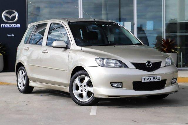 Used Mazda 2 DY10Y1 Genki Kirrawee, 2003 Mazda 2 DY10Y1 Genki Gold 5 Speed Manual Hatchback