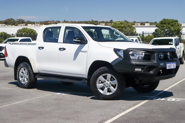 Used Toyota Hilux GUN125R Workmate Double Cab Wangara, 2016 Toyota Hilux GUN125R Workmate Double Cab White 6 Speed Manual Utility