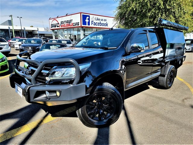 Used Holden Colorado RG MY17 LTZ Pickup Space Cab Seaford, 2016 Holden Colorado RG MY17 LTZ Pickup Space Cab Black 6 Speed Sports Automatic Utility