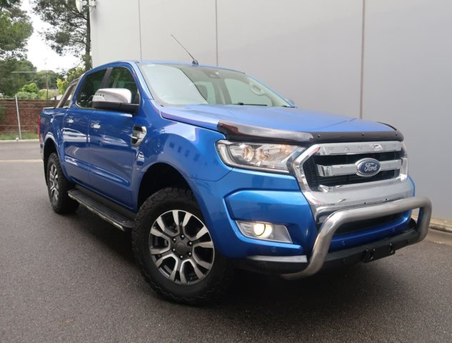 Used Ford Ranger PX MkII 2018.00MY XLT Double Cab Reynella, 2018 Ford Ranger PX MkII 2018.00MY XLT Double Cab Blue 6 Speed Sports Automatic Utility