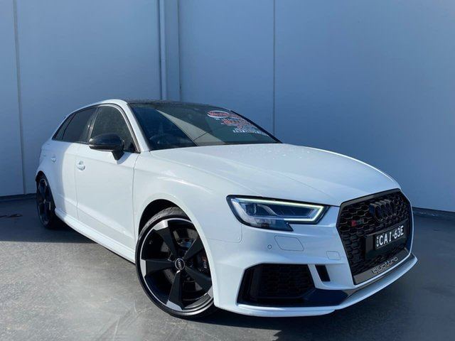 Used Audi RS 3 8V MY20 Carbon Edition Sportback S Tronic Quattro Liverpool, 2020 Audi RS 3 8V MY20 Carbon Edition Sportback S Tronic Quattro White 7 Speed