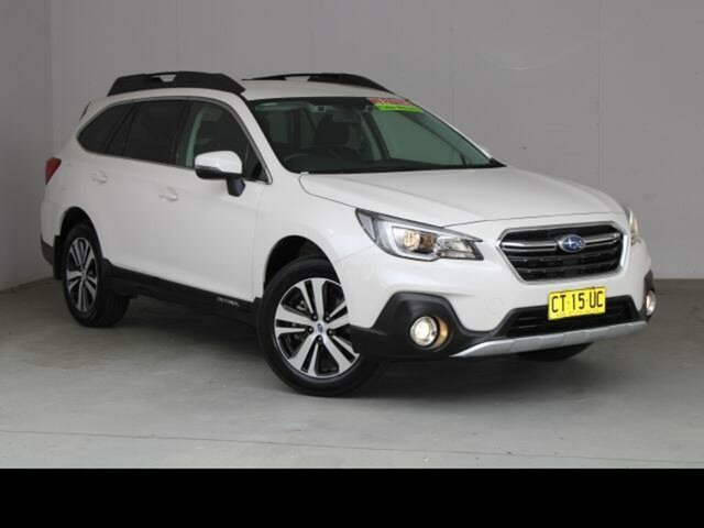 Used Subaru Outback MY18 2.5i AWD Belconnen, 2019 Subaru Outback MY18 2.5i AWD Crystal White Pearl Continuous Variable Wagon