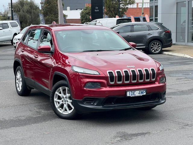 Used Jeep Cherokee KL MY16 Sport South Melbourne, 2016 Jeep Cherokee KL MY16 Sport Deep Cherry Red 9 Speed Sports Automatic Wagon
