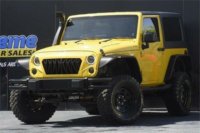 Used Jeep Wrangler JK MY2009 Sport Campbelltown, 2009 Jeep Wrangler JK MY2009 Sport Yellow 6 Speed Manual Softtop