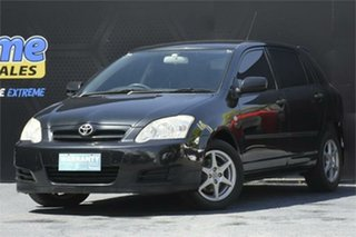 2006 Toyota Corolla ZZE122R 5Y Ascent Sport Black 4 Speed Automatic Hatchback.