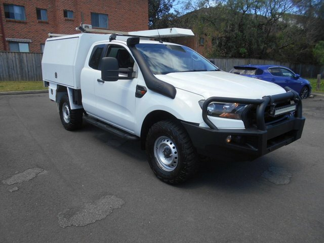 Used Ford Ranger PX MkII XL 3.2 (4x4) Bankstown, 2015 Ford Ranger PX MkII XL 3.2 (4x4) White 6 Speed Manual Super Cab Chassis