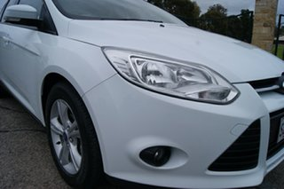 2014 Ford Focus LW MK2 Upgrade Trend White 6 Speed Automatic Hatchback.