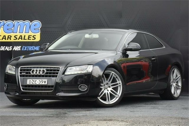 Used Audi A5 8T MY09 S Tronic Quattro Campbelltown, 2009 Audi A5 8T MY09 S Tronic Quattro Black 7 Speed Sports Automatic Dual Clutch Coupe
