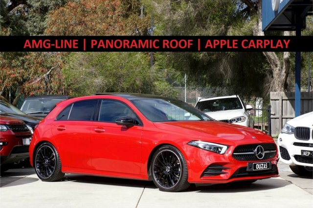 Used Mercedes-Benz A-Class W177 A250 DCT 4MATIC AMG Line Balwyn, 2019 Mercedes-Benz A-Class W177 A250 DCT 4MATIC AMG Line Red 7 Speed Sports Automatic Dual Clutch