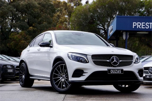 Used Mercedes-Benz GLC-Class C253 809MY GLC250 Coupe 9G-Tronic 4MATIC Balwyn, 2018 Mercedes-Benz GLC-Class C253 809MY GLC250 Coupe 9G-Tronic 4MATIC White 9 Speed Sports Automatic