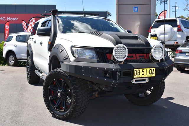 Used Ford Ranger PX MkII XL Hi-Rider Tuggerah, 2015 Ford Ranger PX MkII XL Hi-Rider White 6 Speed Sports Automatic Cab Chassis