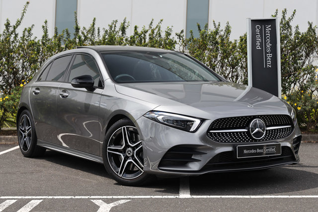 Certified Pre-Owned Mercedes-Benz A-Class W177 A250 DCT 4MATIC AMG Line Mulgrave, 2019 Mercedes-Benz A-Class W177 A250 DCT 4MATIC AMG Line Mountain Grey 7 Speed