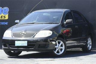 2005 Toyota Corolla ZZE122R 5Y Ascent Black 4 Speed Automatic Sedan.