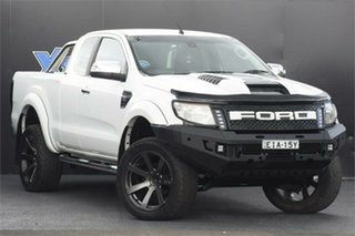 2012 Ford Ranger PX XLT Double Cab 4x2 Hi-Rider White 6 Speed Sports Automatic Utility.