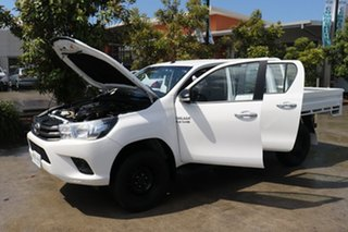 2017 Toyota Hilux GUN126R SR Double Cab White 6 speed Automatic Cab Chassis
