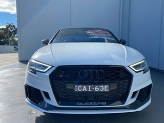 2020 Audi RS 3 8V MY20 Carbon Edition Sportback S Tronic Quattro White 7 Speed.