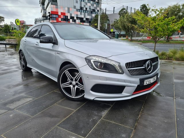 Used Mercedes-Benz A-Class W176 A250 D-CT Sport South Melbourne, 2014 Mercedes-Benz A-Class W176 A250 D-CT Sport Silver 7 Speed Sports Automatic Dual Clutch