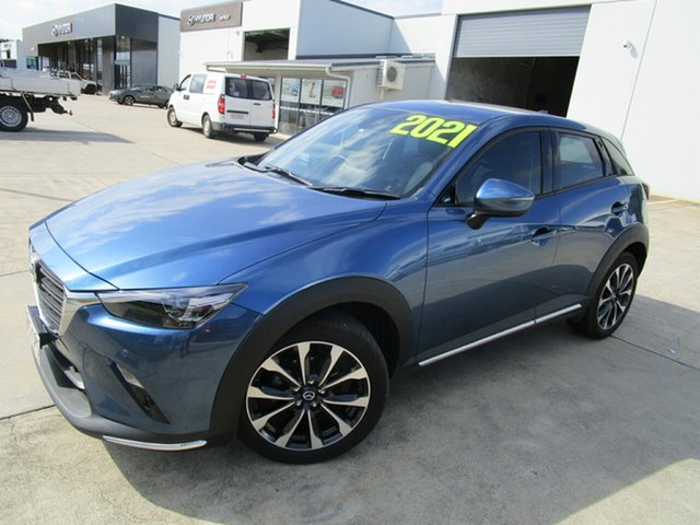 Used Mazda CX-3 DK2W7A sTouring SKYACTIV-Drive FWD Caboolture, 2021 Mazda CX-3 DK2W7A sTouring SKYACTIV-Drive FWD Blue 6 Speed Sports Automatic Wagon