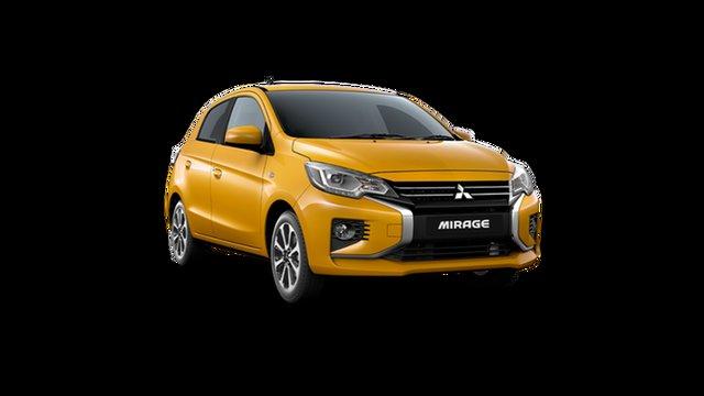 New Mitsubishi Mirage LB MY22 LS Hamilton, 2021 Mitsubishi Mirage LB MY22 LS Sand Yellow 1 Speed Constant Variable Hatchback