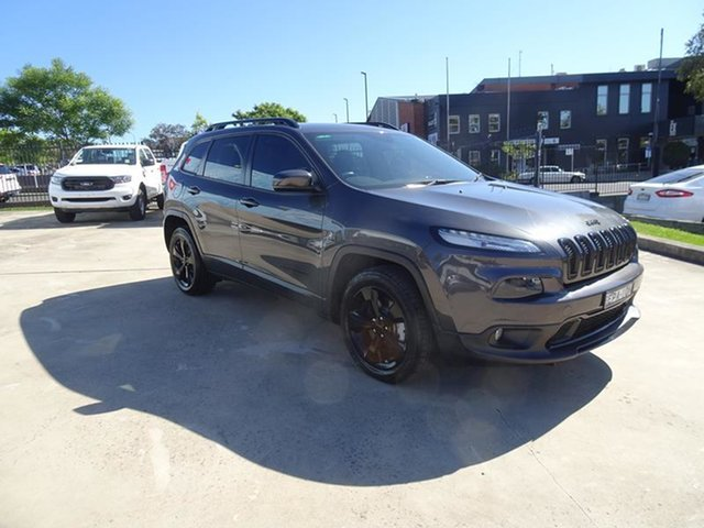 Used Jeep Cherokee KL MY15 Blackhawk Nowra, 2015 Jeep Cherokee KL MY15 Blackhawk Granite Crystal 9 Speed Automatic Wagon