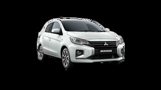 2021 Mitsubishi Mirage LB MY22 LS White 1 Speed Constant Variable Hatchback
