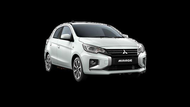 New Mitsubishi Mirage LB MY22 LS Hamilton, 2021 Mitsubishi Mirage LB MY22 LS White 1 Speed Constant Variable Hatchback