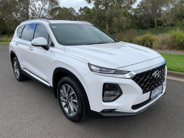 Used Hyundai Santa Fe TM Elite Geelong, 2019 Hyundai Santa Fe TM Elite White Sports Automatic Wagon